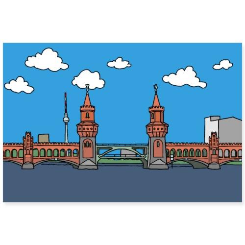 Oberbaumbrücke in Berlin Poster - Poster 90x60 cm