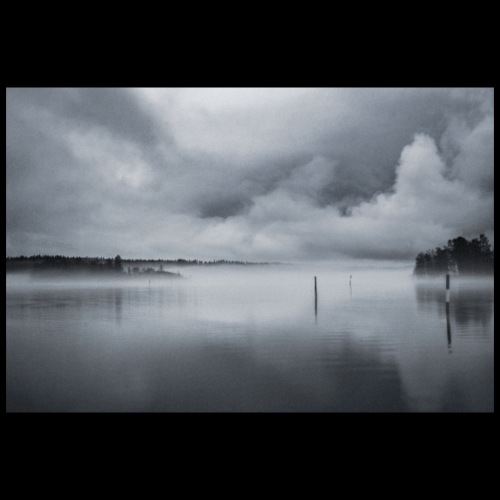 Usvainen Savonlinnan satama - Juliste 90x60 cm