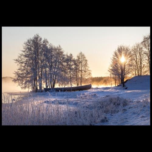 Talvinen Riihisaaren ranta - Juliste 90x60 cm