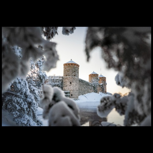 Olavinlinna talvella - Juliste 90x60 cm