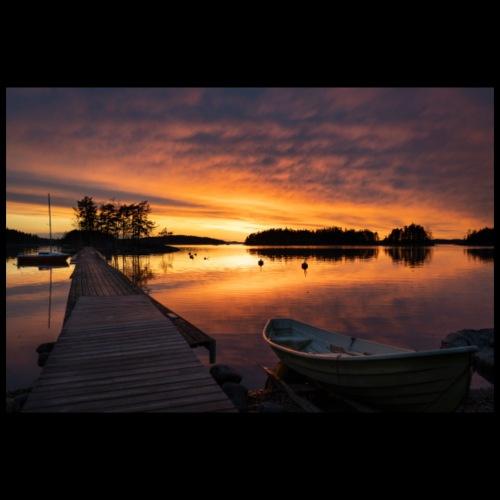 Auringonlasku Saimaalla