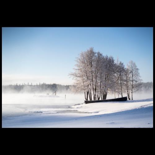 Riihisaari talviaamuna - Juliste 90x60 cm