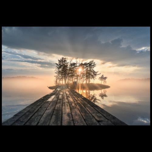 Usvainen auringonlasku Saimaalla - Juliste 90x60 cm