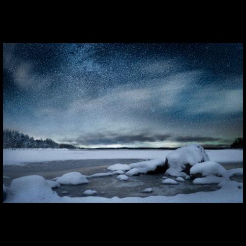 Talvinen Saimaa - Juliste 90x60 cm