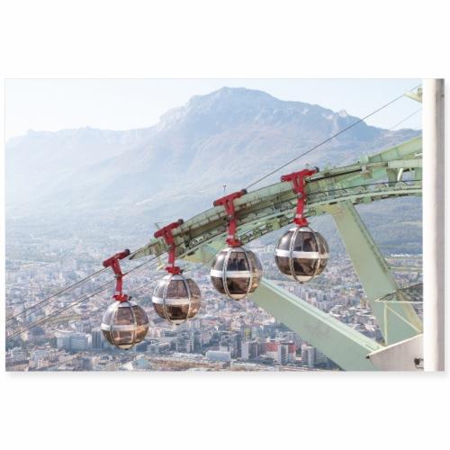 Téléphérique de Grenoble - Poster 90 x 60 cm
