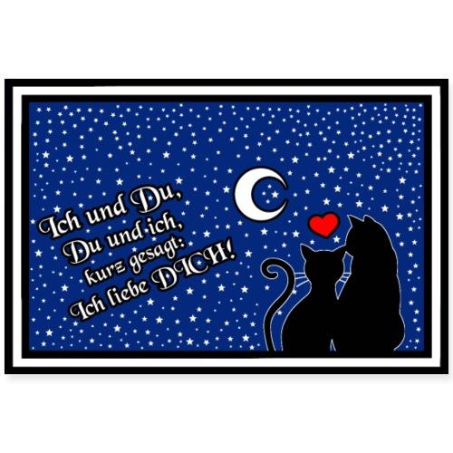 Liebe - Ich und Du, Du und ich - Ich liebe Dich! - Poster 90x60 cm