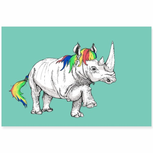 Rhino affiche - Poster 90 x 60 cm