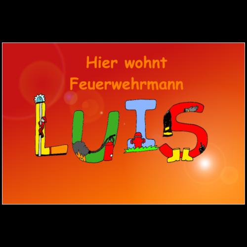 Luis - Feuerwehr Poster fürs Kinderzimmer - Poster 90x60 cm