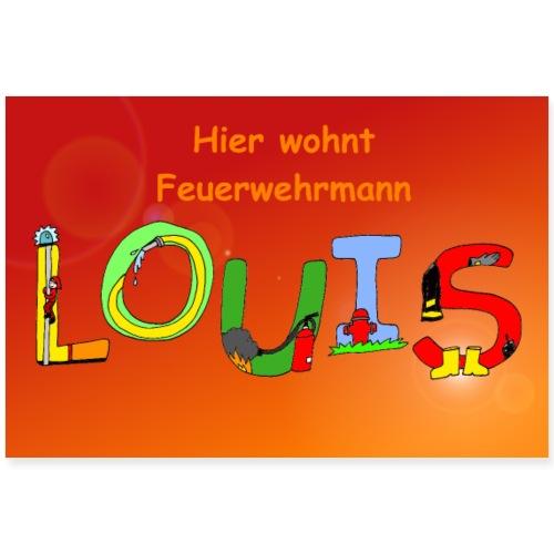 Louis Kinderzimmer - Poster oder Türschild - Poster 90x60 cm