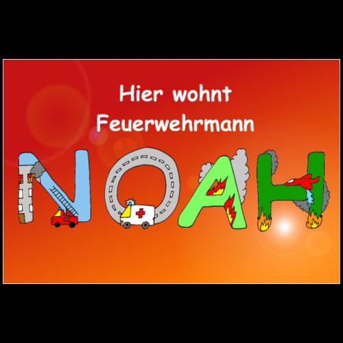 Noah - Poster mit Namen fürs Feuerwehr Zimmer - Poster 90x60 cm