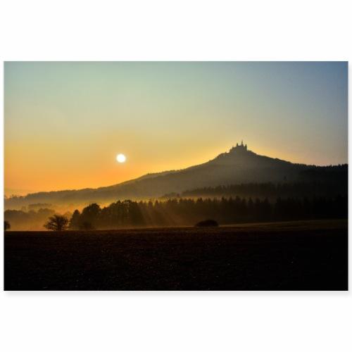 Burg Hohenzollerm bei Sonnenaufgang - Poster 90x60 cm