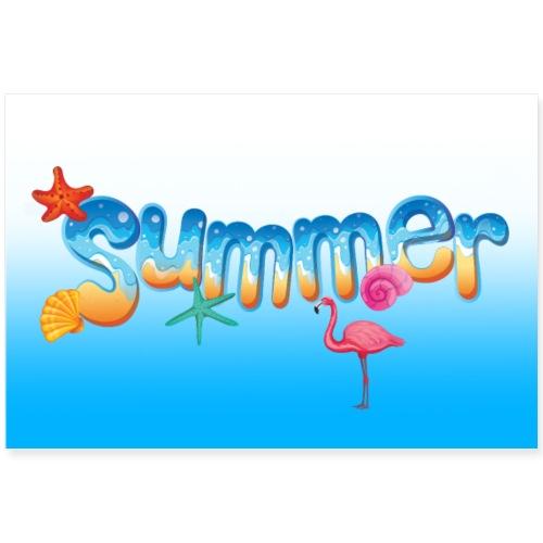 Sommer Sonne Strand - Poster 90x60 cm