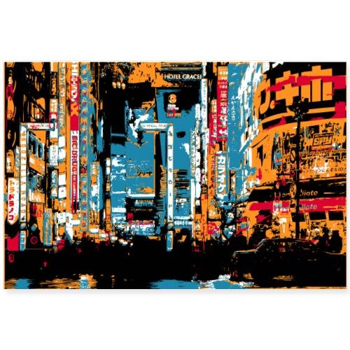 Erorxshirts city poster 3 - Poster 90x60 cm