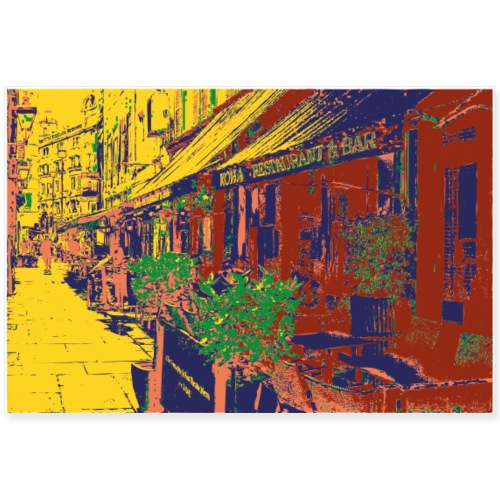 Erorxshirts city poster 2 bistro cafe streetcafe - Poster 90x60 cm