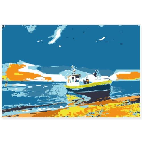 Erorxshirts beach sun boat poster 1 - Poster 90x60 cm