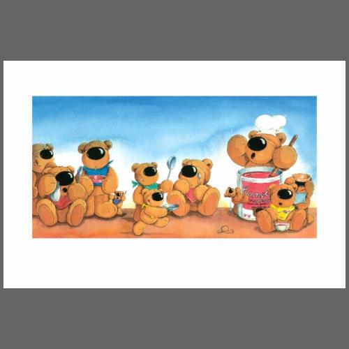 Die Bärenküche - Poster 90x60 cm