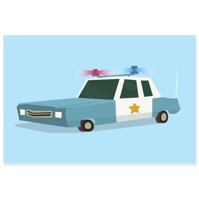 Funky Police Car Poster