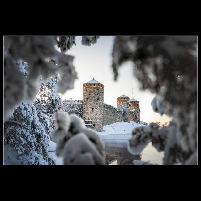 Olavinlinna talvella
