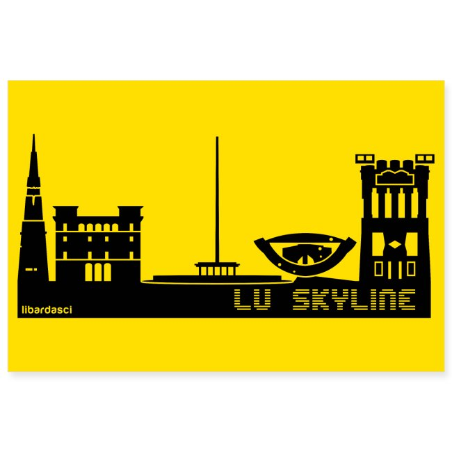 Poster: Lu Skyline giallo senape