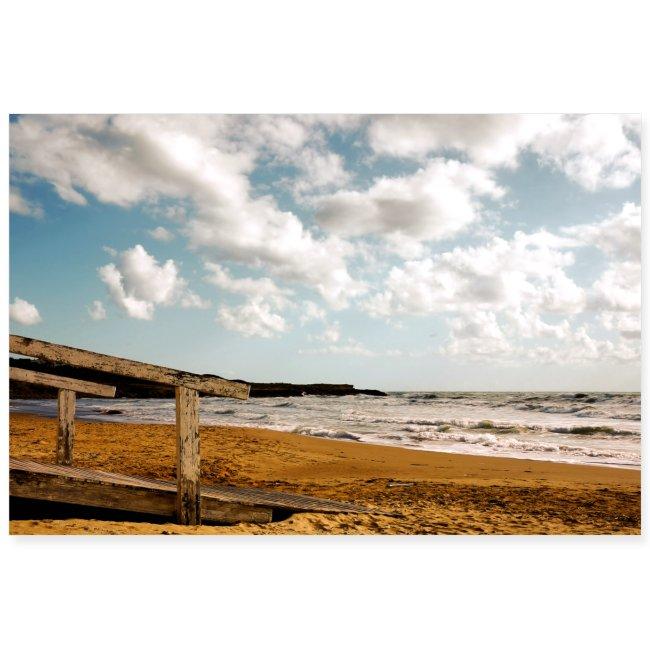 Steg Strand Sizilien Wolken Himmel Mittelmeer
