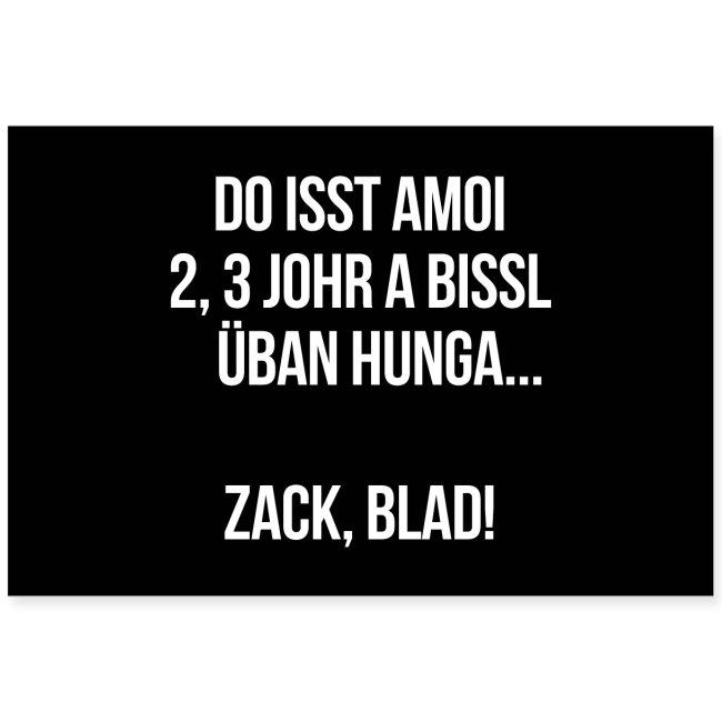 Vorschau: Zack blad! - Poster 60x40 cm