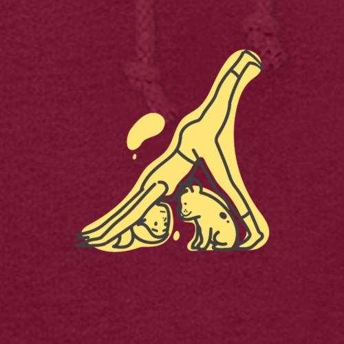 Yoga Pose Downward Facing Dog T-shirt Print - Women's Hoodie