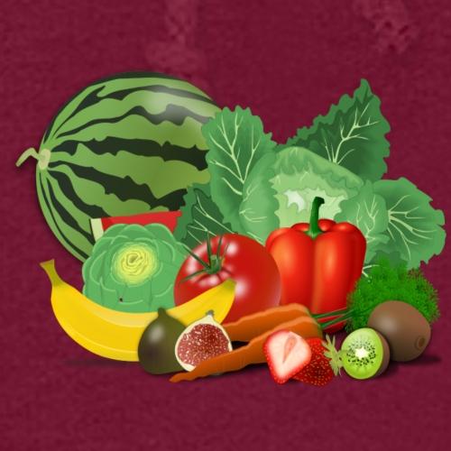 Vegetarian or vegetables lover? Print Design - Women's Hoodie