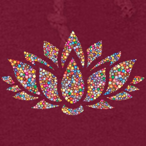 Lotus Flower yoga print design on T-shirt Apparel - Women's Hoodie