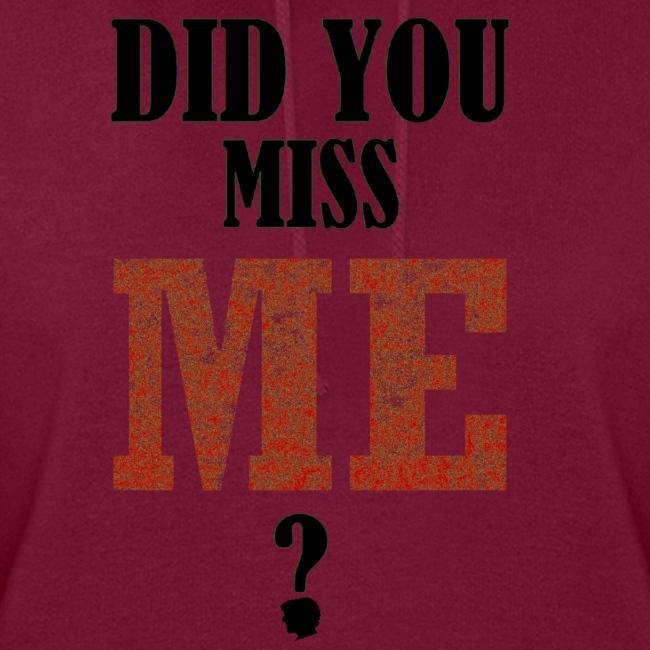did you miss me black