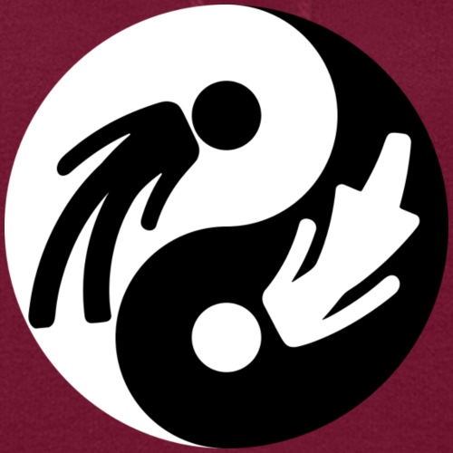 Yin Yang Male Female Symbol Duality Print - Women's Hoodie