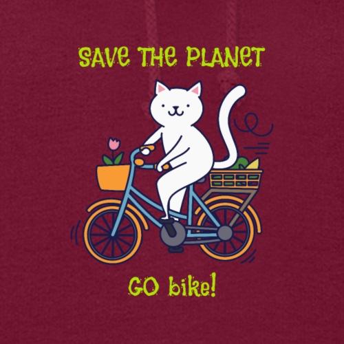 Save The Planet Go Bike! - Women's Hoodie