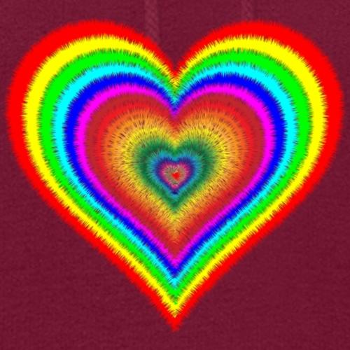 Heart In Hearts Print Design on T-shirt Apparel - Women's Hoodie