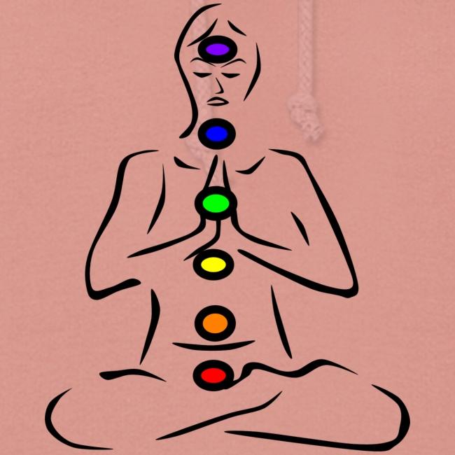 Illustrated Chakras Spirituel Yoga Print Design