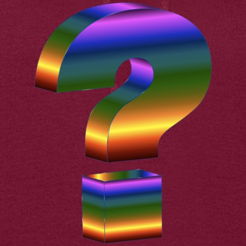 Question Mark Print Design T-shirts and Apparel - Women's Hoodie