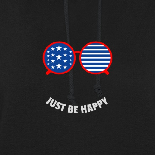 Just Be Happy, Custom Print On Demand Design - Women's Hoodie