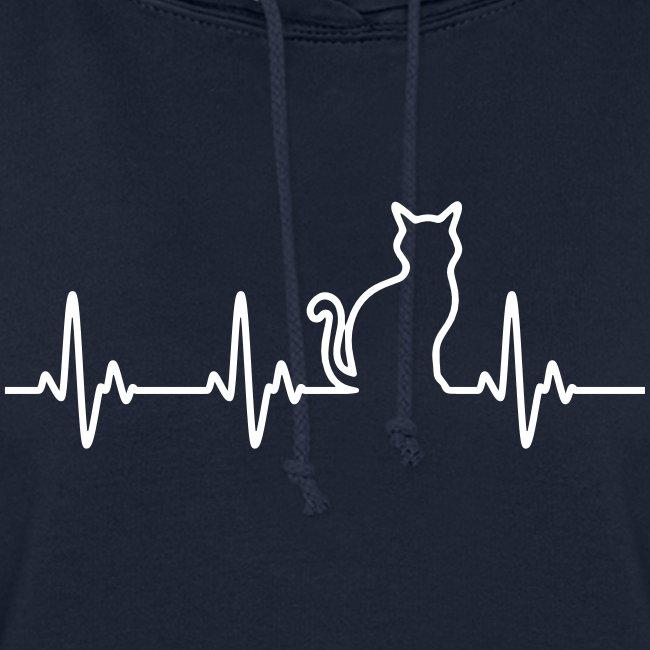 Vorschau: Ein Herz für Katzen - Frauen Hoodie