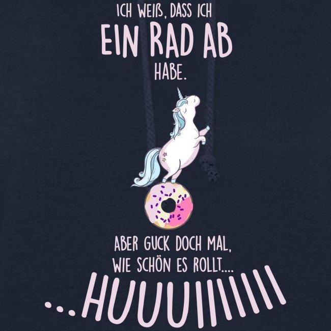 Vorschau: rad ab_einhorn - Frauen Hoodie
