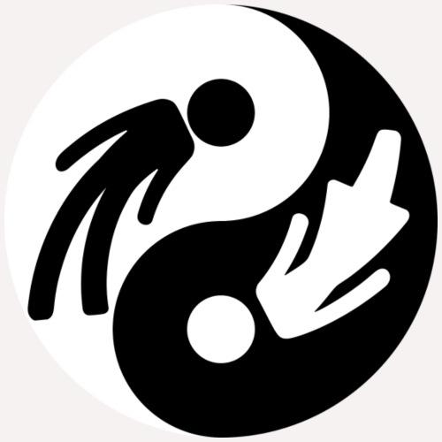 Yin Yang Man Woman - Women's Hoodie