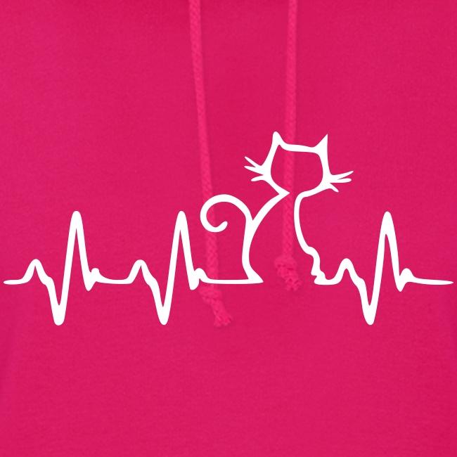 Vorschau: Cat Heartbeat - Frauen Hoodie