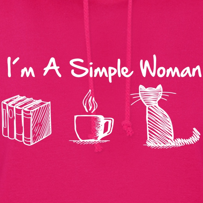 Vorschau: simple woman cat books - Frauen Hoodie