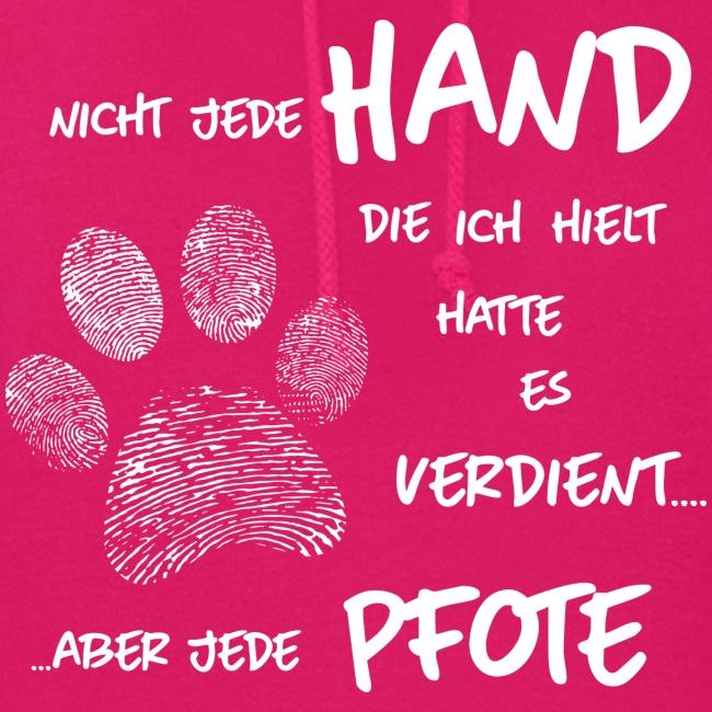 Vorschau: Hand Pfote Hund - Frauen Hoodie