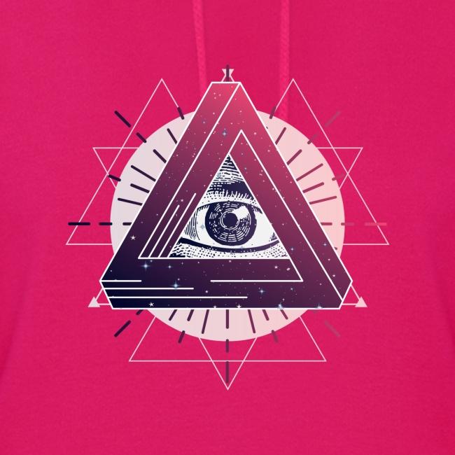 All-seeing eye triangle magic