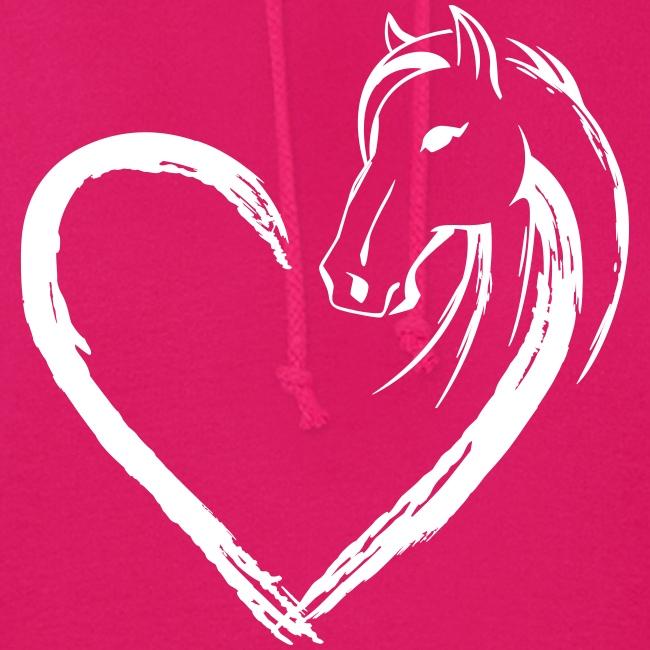 Vorschau: Pferde Herz - Frauen Hoodie