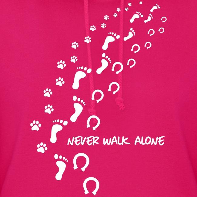 Vorschau: never walk alone hund pferd - Frauen Hoodie