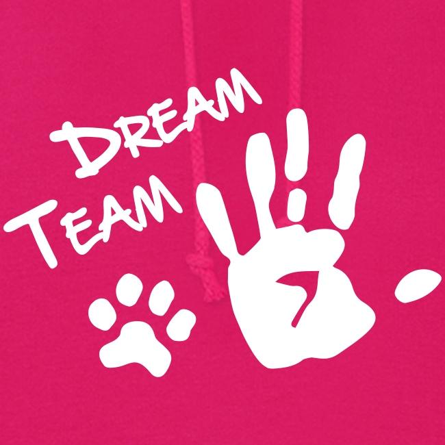 Vorschau: Dream Team Hand Hundpfote - Frauen Hoodie
