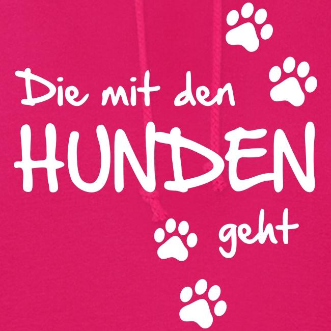 Vorschau: Die mit den Hunden geht - Frauen Hoodie