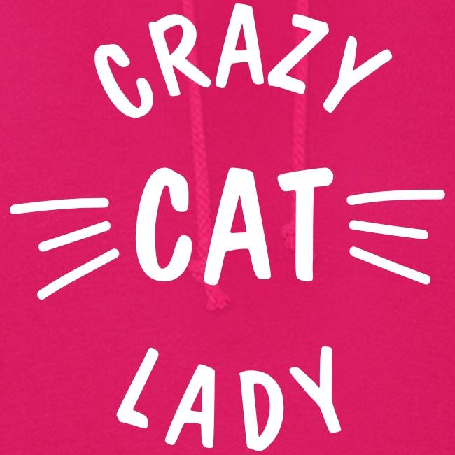 Vorschau: Crazy Cat Lady meow - Frauen Hoodie