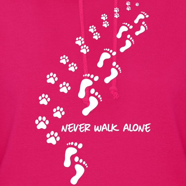 Vorschau: never walk alone dog - Frauen Hoodie