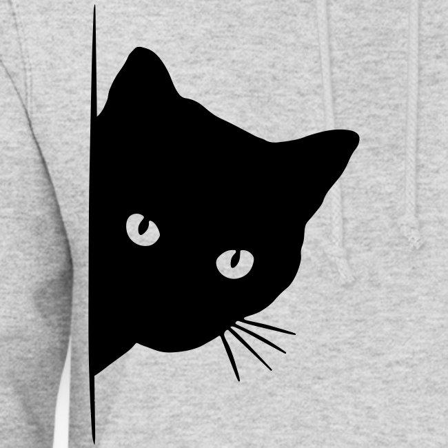 Vorschau: peeking cat - Frauen Hoodie
