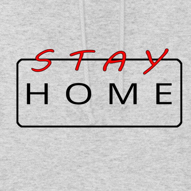 stay home rot/schwarz
